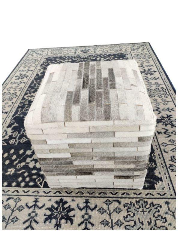 handmade hide pouf ottoman top