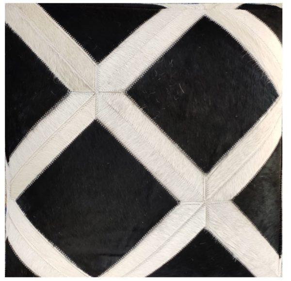 handmade hide pouf ottoman 007 close up